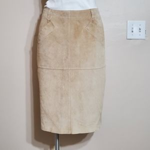 Isaac Mizrahi leather skirt